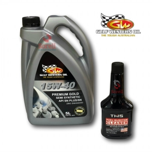 Gulf Western Premium Gold 15W40 5L (& Free Injector Cleaner)