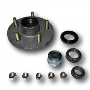 "6"" Galvanized Trailer Hub Assembly (Ford Bearings)"