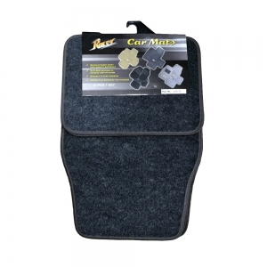 Set Of 4 Grey Floor Mats