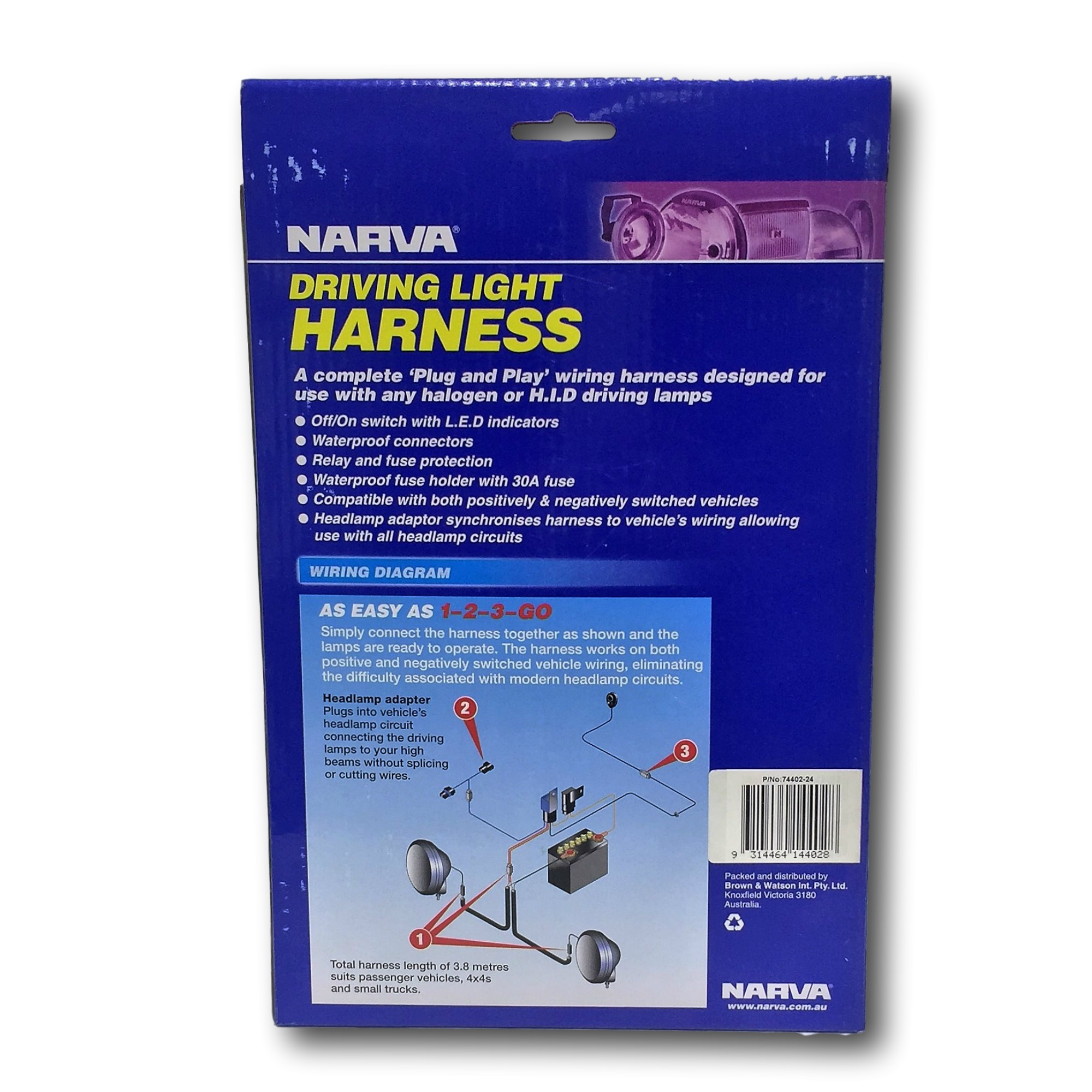 Narva 24v Wiring Harness Sorell Service Station Heavy Duty Headlight