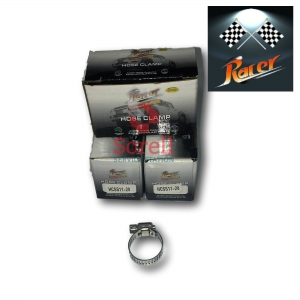 Racer Stainless Steel Hose Clamps 11-20mm (10 Clamps)