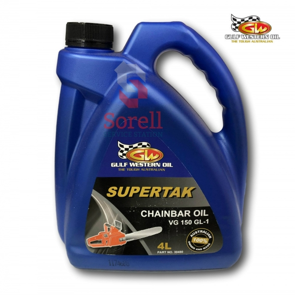 Gulf Western Supertak Chain Bar Oil 4L